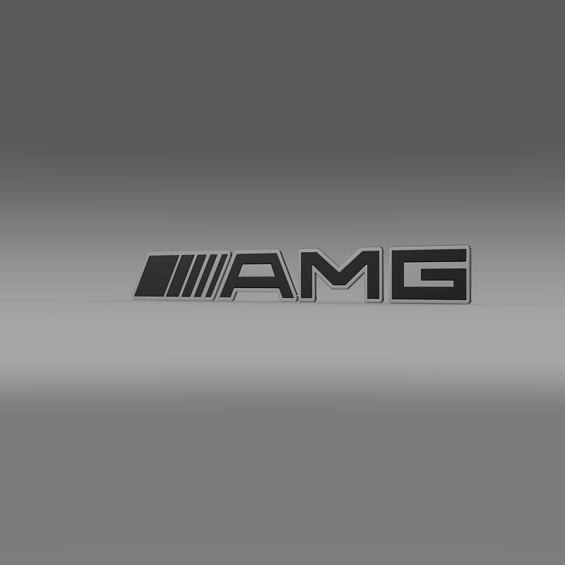 amg logo 3d model 3ds max fbx c4d lwo ma mb hrc xsi obj 152572