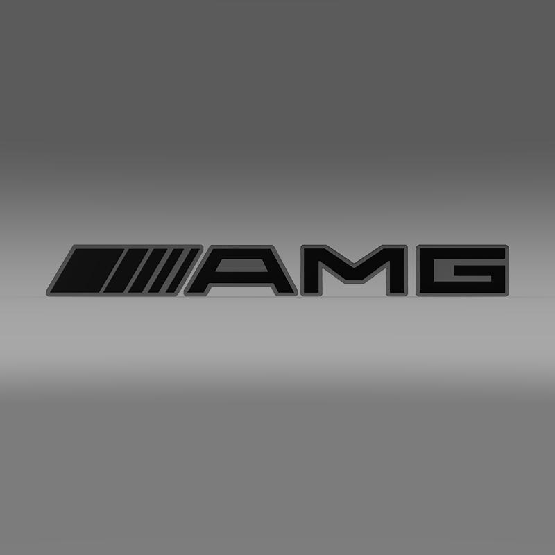 AMG Logo 3d model 3ds max fbx c4d lwo lws lw ma mb  obj 152573