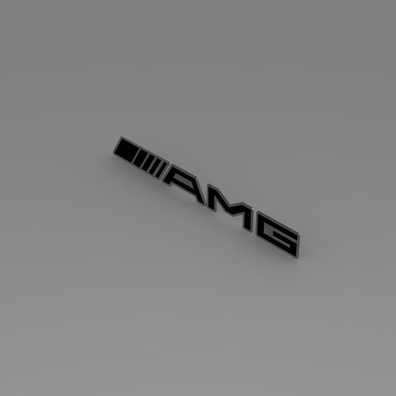 AMG Logo 3d model 3ds max fbx c4d lwo lws lw ma mb  obj 152575