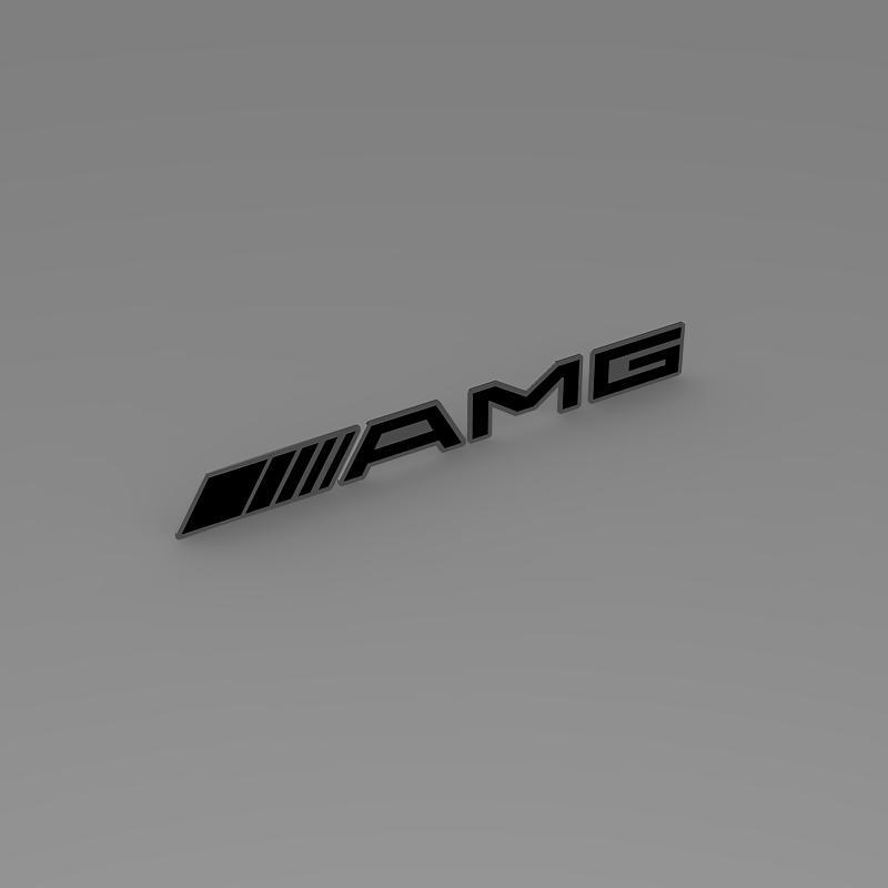 AMG Logo 3d model 3ds max fbx c4d lwo lws lw ma mb  obj 152577