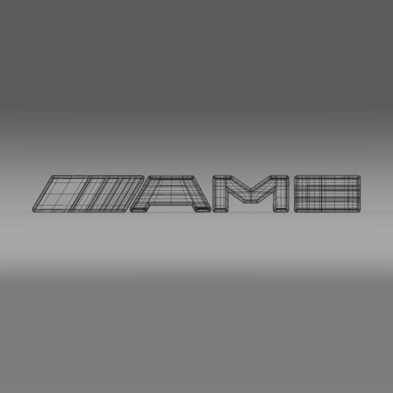 AMG Logo 3d model 3ds max fbx c4d lwo lws lw ma mb  obj 152578
