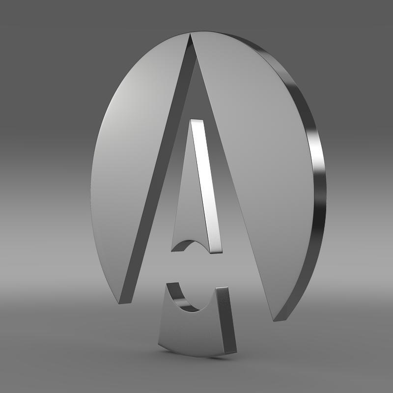 ariel logo 3d model 3ds max fbx c4d lwo ma mb hrc xsi obj 152210