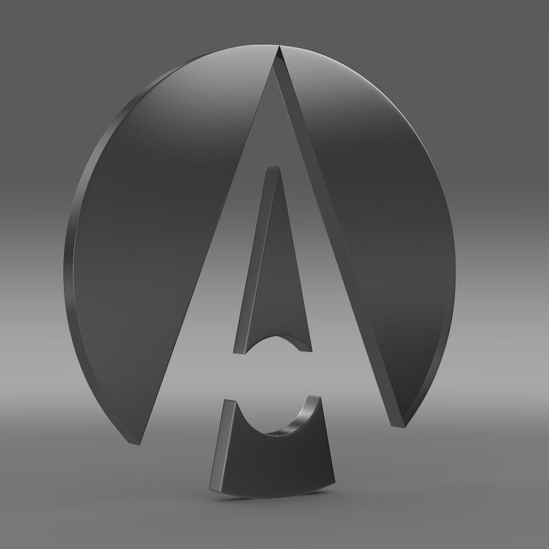 ariel logo 3d model 3ds max fbx c4d lwo ma mb hrc xsi obj 152211