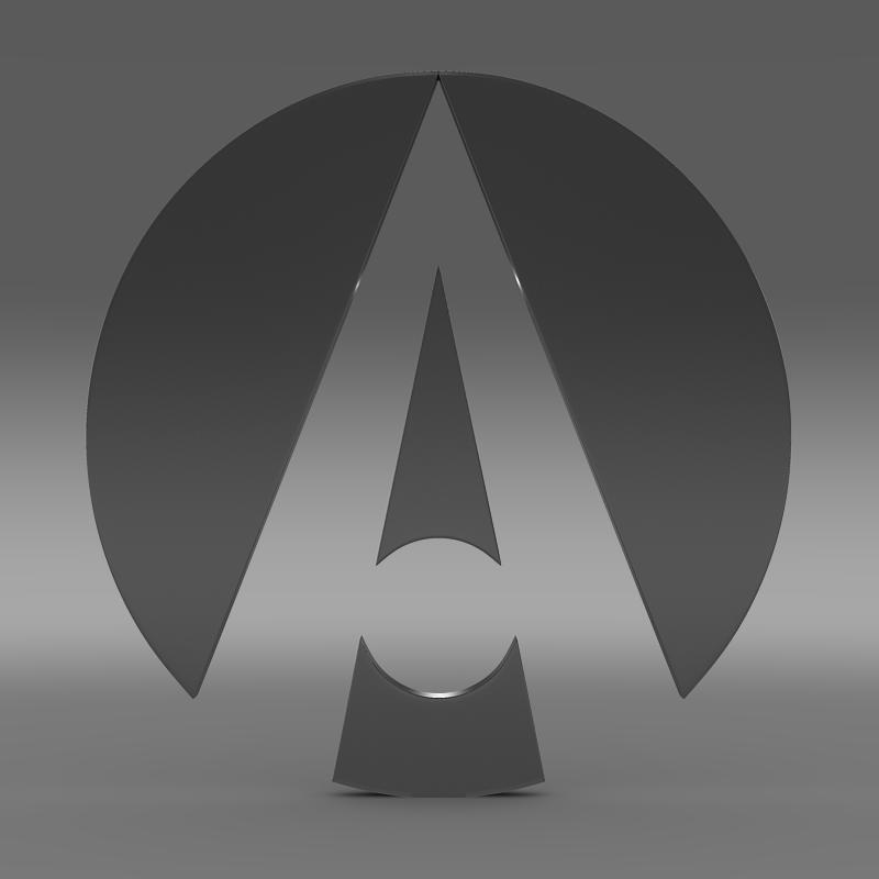 ariel logo 3d model 3ds max fbx c4d lwo ma mb hrc xsi obj 152212