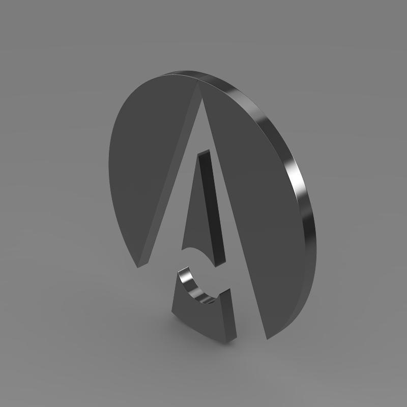 ariel logo 3d model 3ds max fbx c4d lwo ma mb hrc xsi obj 152213