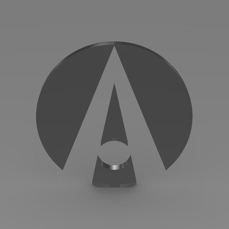 ariel logo 3d model 3ds max fbx c4d lwo ma mb hrc xsi obj 152215