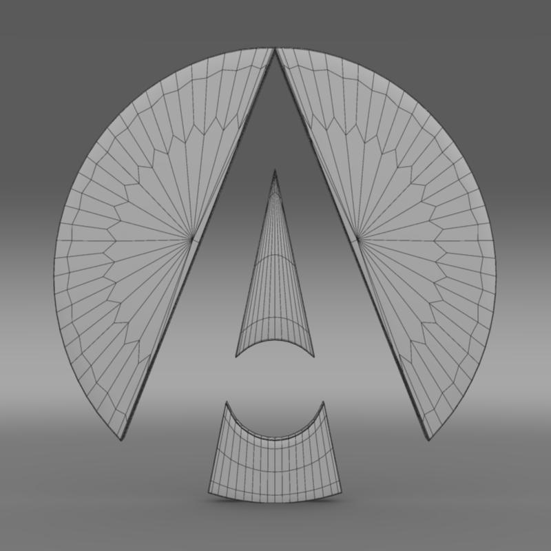 ariel logo 3d model 3ds max fbx c4d lwo ma mb hrc xsi obj 152216