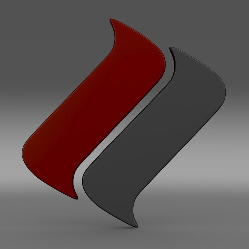 ascari logo 3d model 3ds max fbx c4d lwo ma mb hrc xsi obj 116971