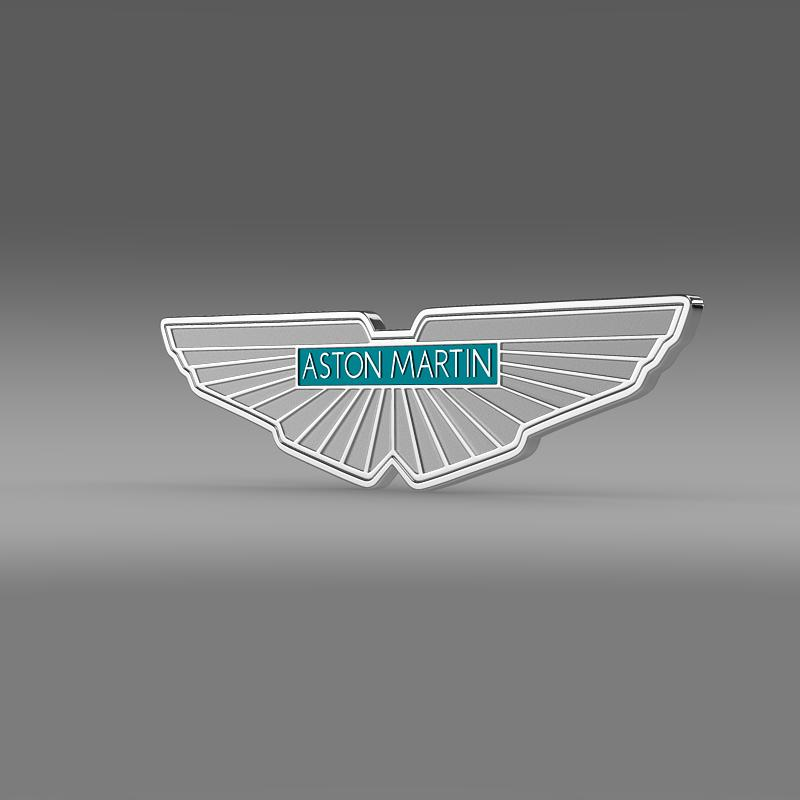 aston martin logo 3d model 3ds max fbx c4d