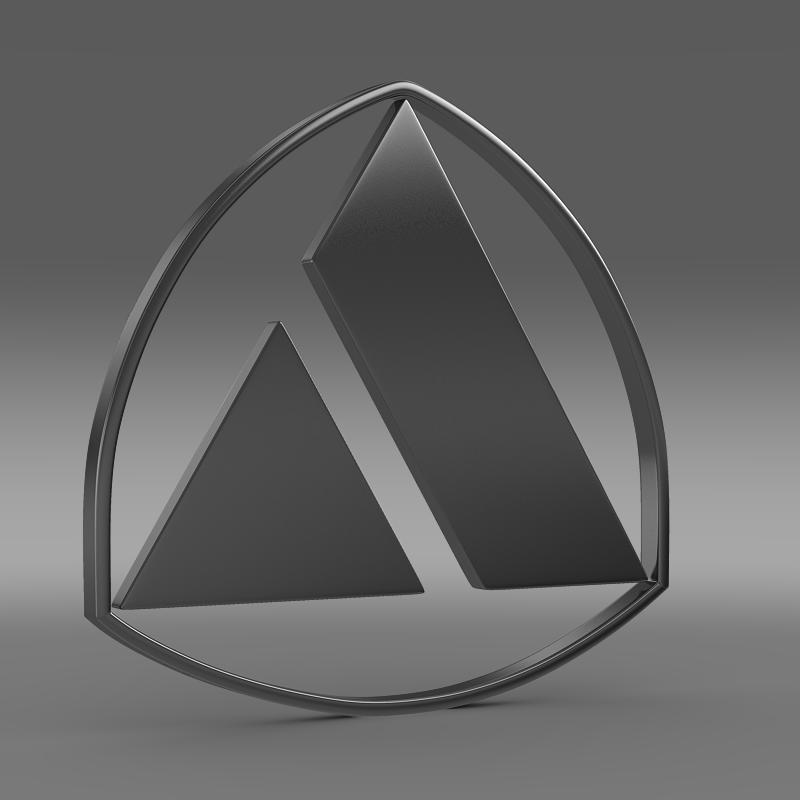 autobianchi logo 3d model 3ds max fbx c4d lwo ma mb hrc xsi obj 152232