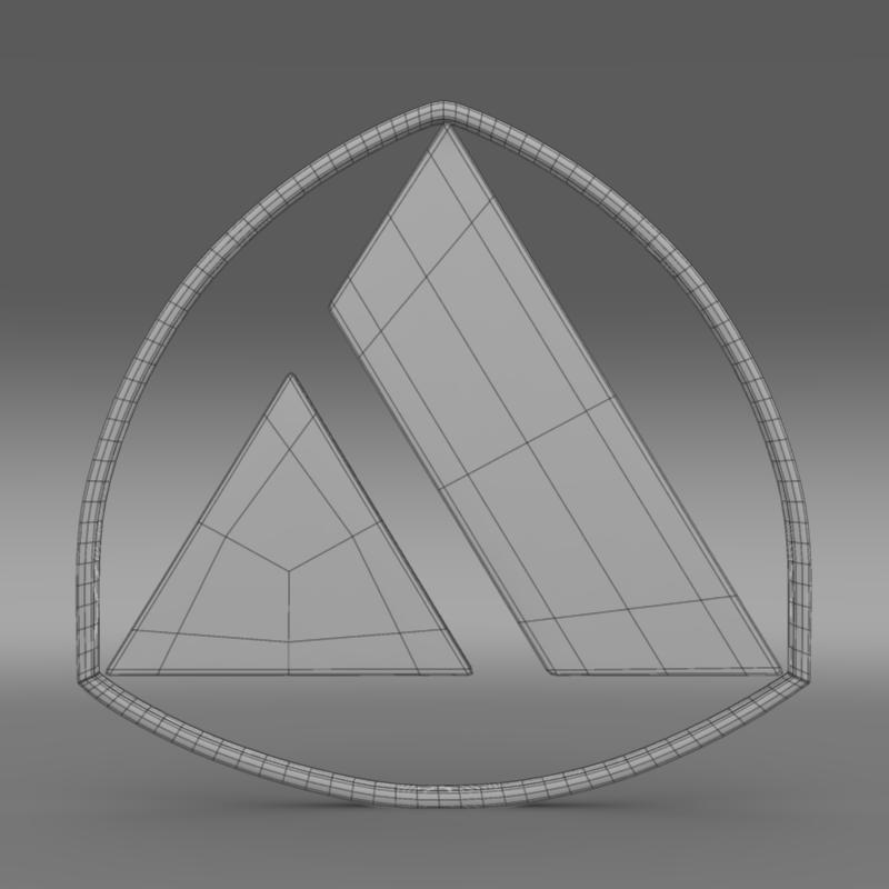 autobianchi logo 3d model 3ds max fbx c4d lwo ma mb hrc xsi obj 152237