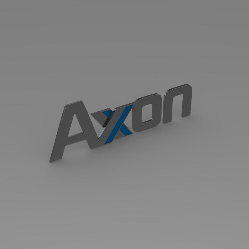 axon logo 3d model 3ds max fbx c4d lwo ma mb hrc xsi obj 152579