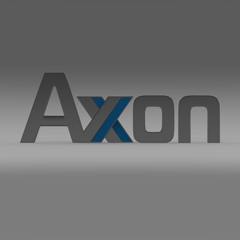 axon logo 3d model 3ds max fbx c4d lwo ma mb hrc xsi obj 152582