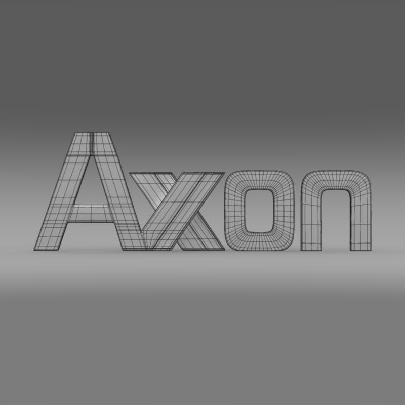 axon logo 3d model 3ds max fbx c4d lwo ma mb hrc xsi obj 152584