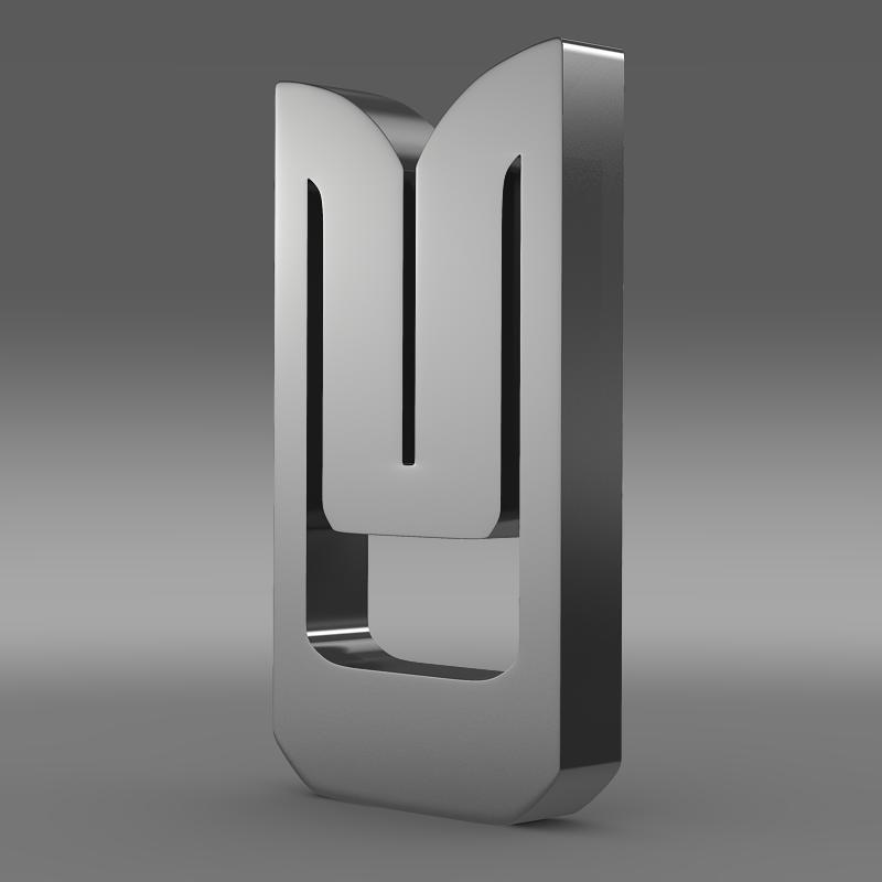 azlk logo 3d model 3ds max fbx c4d lwo ma mb hrc xsi obj 117980
