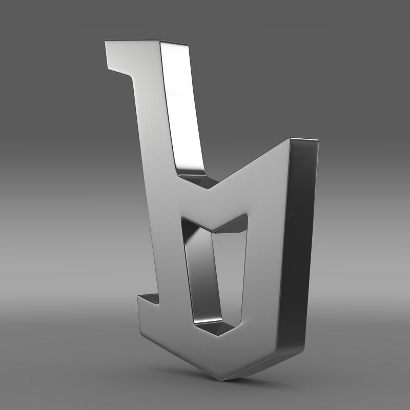 bertone logo 3d model 3ds maks.