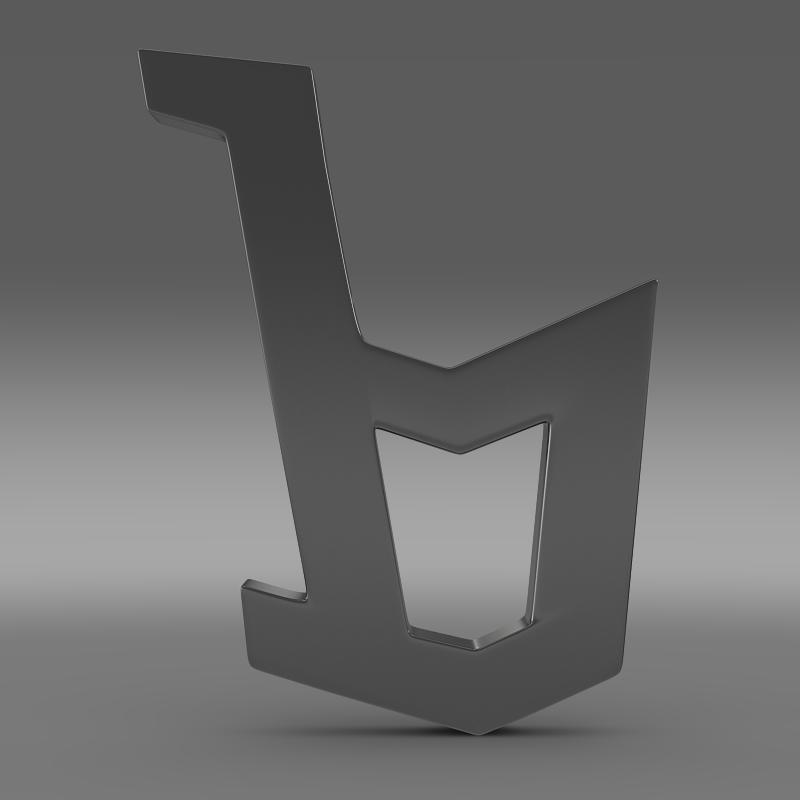 bertone logo 3d model 3ds max fbx c4d lwo ma mb hrc xsi obj 117995