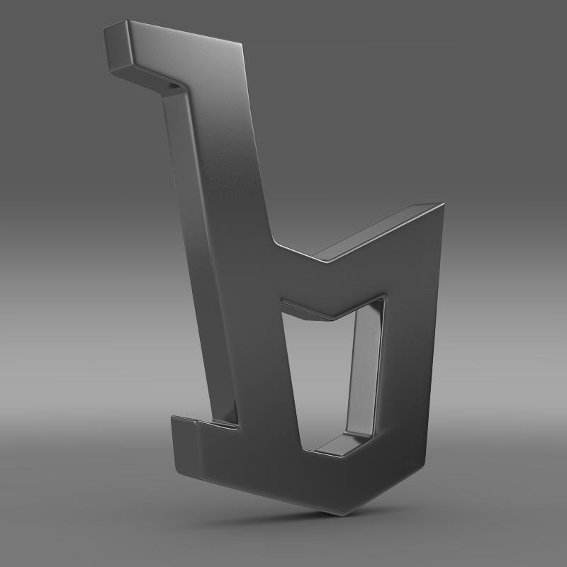 bertone logo 3d model 3ds max fbx c4d lwo ma mb hrc xsi obj 117996