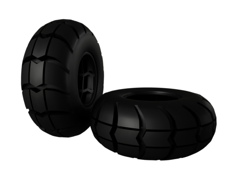 big foot tire 3d model 3ds fbx c4d lwo ma mb hrc xsi obj 125708