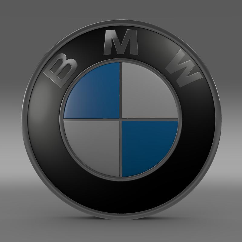 bmw logo 3d model 3ds max fbx c4d lwo ma mb hrc xsi obj 117471