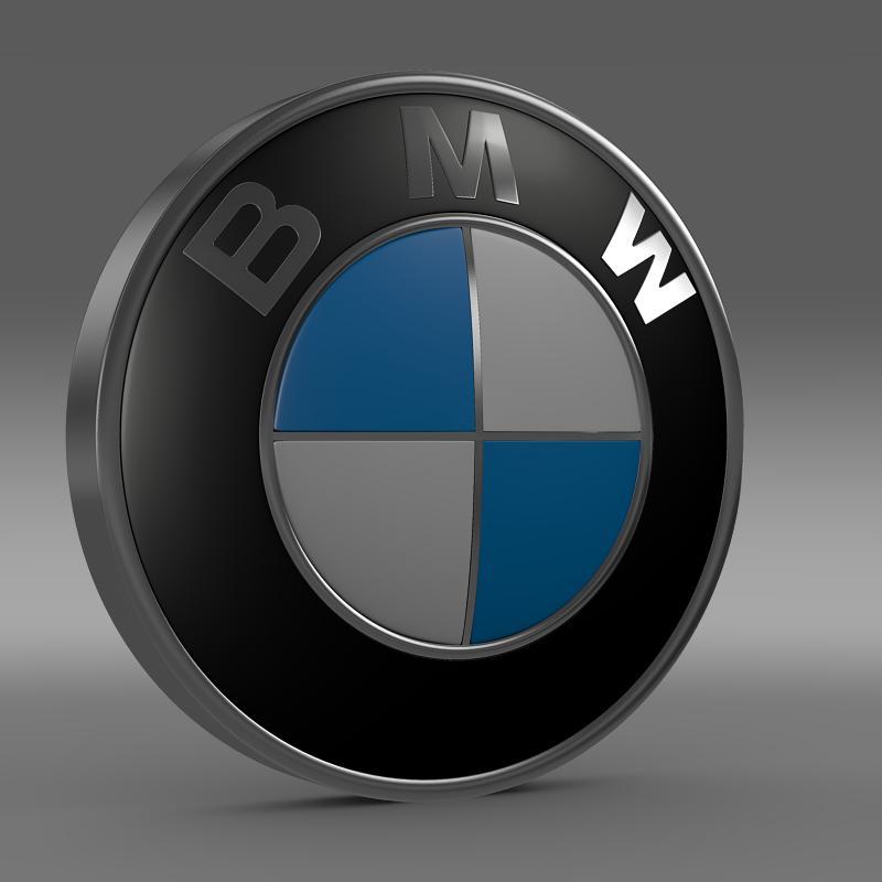 bmw logo 3d model 3ds max fbx c4d lwo ma mb hrc xsi obj 117472