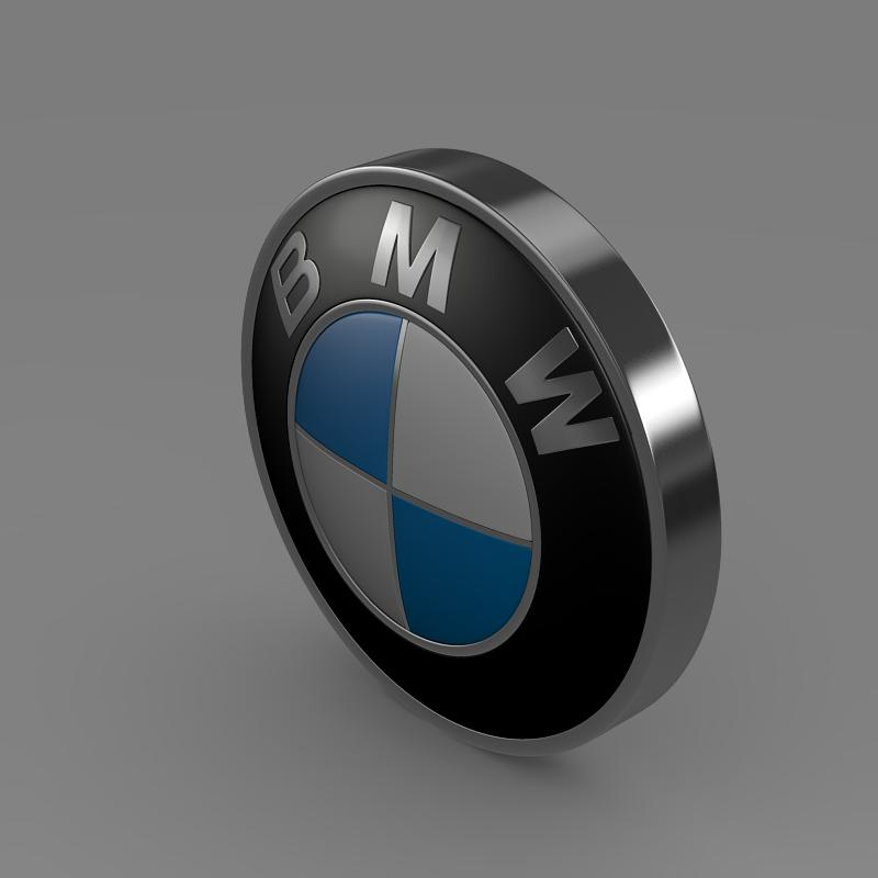 bmw logo 3d model 3ds max fbx c4d lwo ma mb hrc xsi obj 117473
