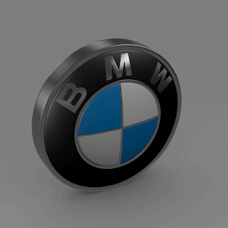 bmw logo 3d model 3ds max fbx c4d lwo ma mb hrc xsi obj 117475