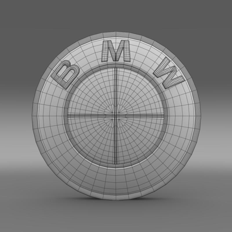 bmw logo 3d model 3ds max fbx c4d lwo ma mb hrc xsi obj 117476
