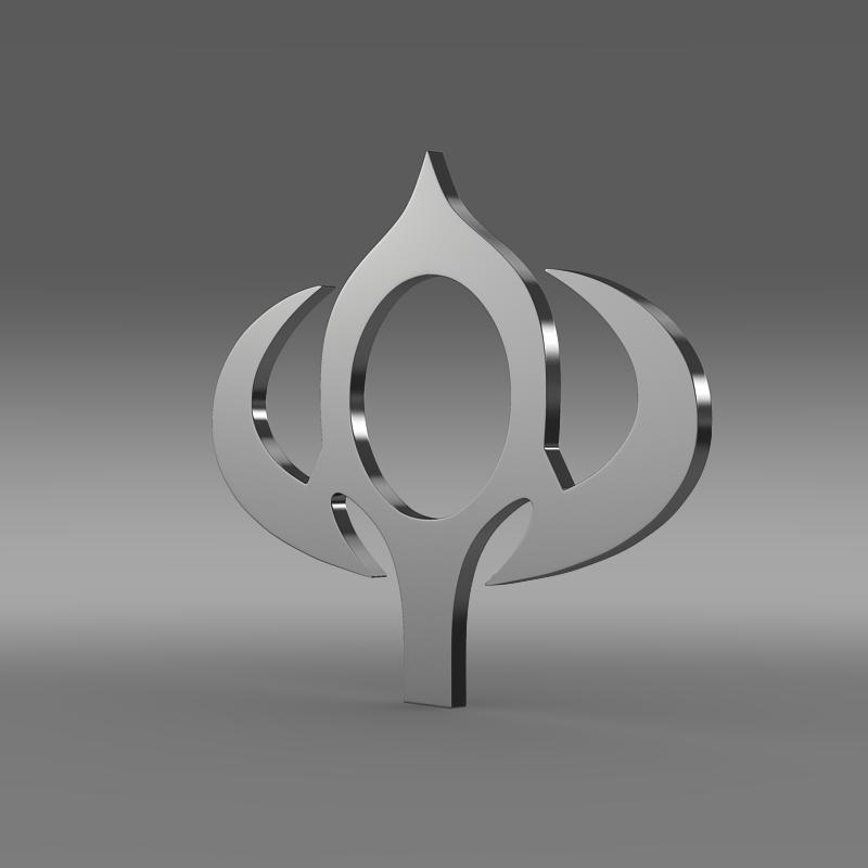 bogdan logotip, logo 3d model 3ds max fbx c4d