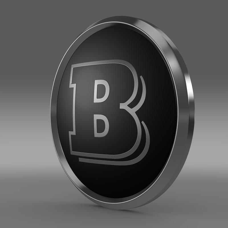 brabus logo 3d model 3ds max fbx c4d lwo ma mb hrc xsi obj 119025