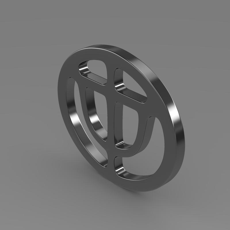 brrilliance logo 3d model 3ds max fbx c4d lwo ma mb hrc xsi obj 119048