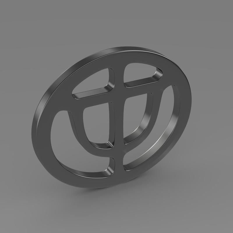 brrilliance logo 3d model 3ds max fbx c4d lwo ma mb hrc xsi obj 119050
