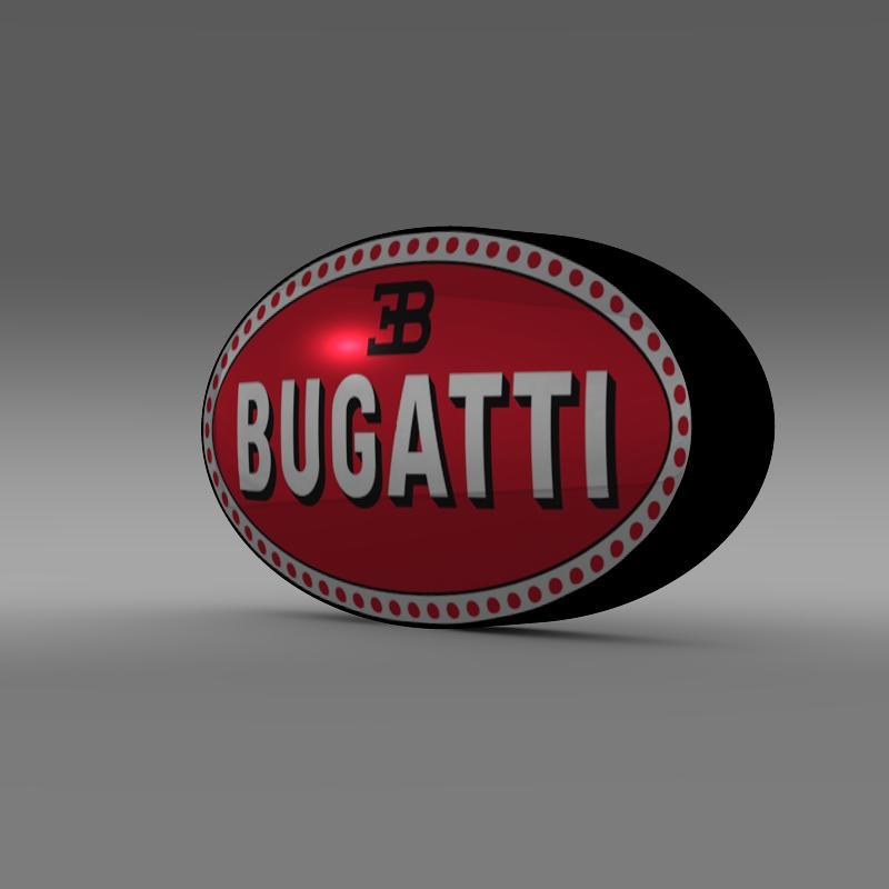 bugatti logo 3d model 3ds max fbx c4d lwo ma mb hrc xsi obj 118001
