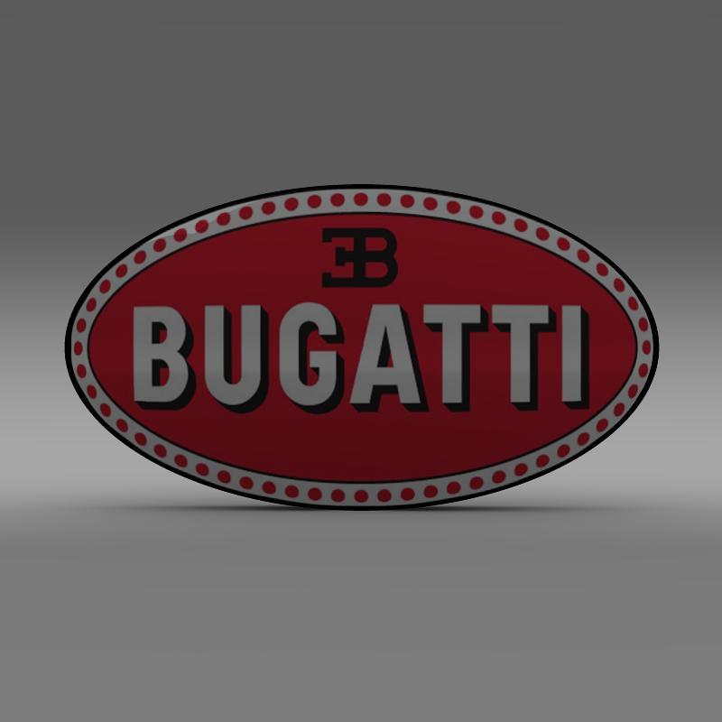 bugatti logo 3d líkan 3ds max fbx c4d lwo ma mb hrc xsi obj 118002
