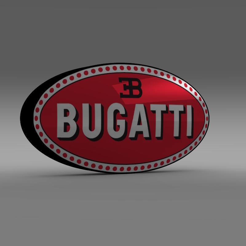 bugatti logo 3d líkan 3ds max fbx c4d lwo ma mb hrc xsi obj 118003