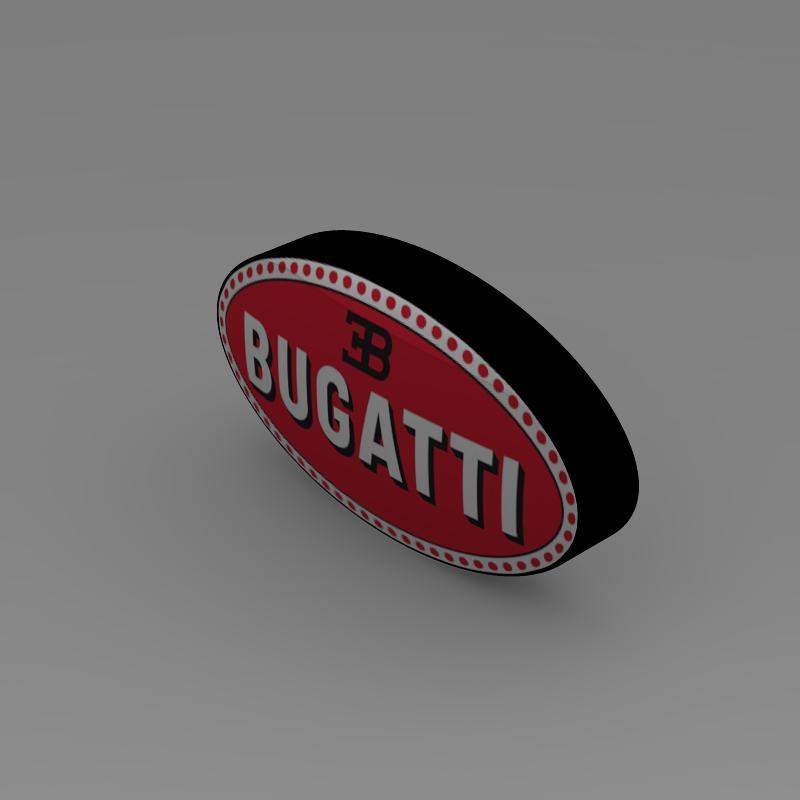 bugatti logo 3d líkan 3ds max fbx c4d lwo ma mb hrc xsi obj 118004