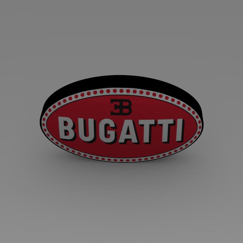 bugatti logo 3d líkan 3ds max fbx c4d lwo ma mb hrc xsi obj 118005