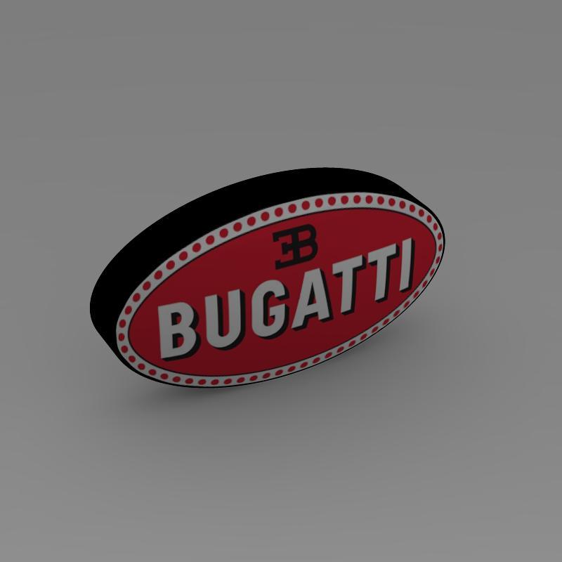 bugatti logo 3d líkan 3ds max fbx c4d lwo ma mb hrc xsi obj 118006