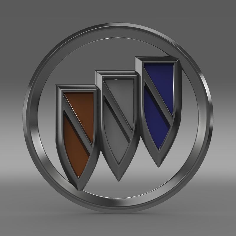 buick new logo 3d model 3ds max fbx c4d lwo ma mb hrc xsi obj 152239