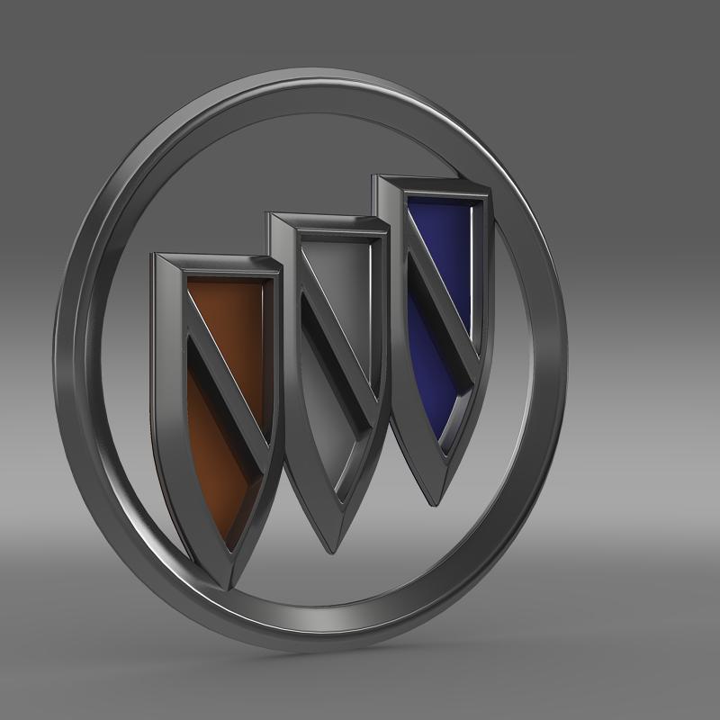 buick new logo 3d model 3ds max fbx c4d lwo ma mb hrc xsi obj 152240