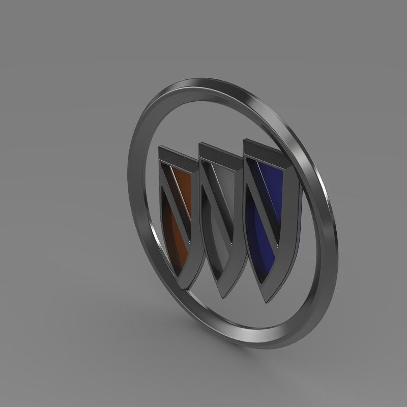 buick new logo 3d model 3ds max fbx c4d lwo ma mb hrc xsi obj 152241