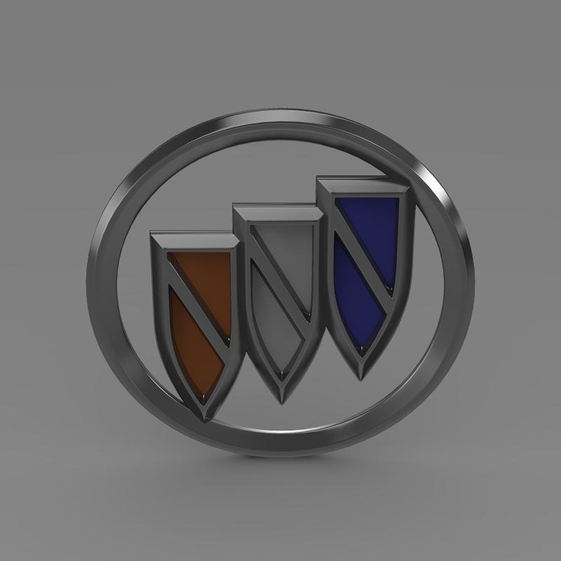 buick new logo 3d model 3ds max fbx c4d lwo ma mb hrc xsi obj 152242