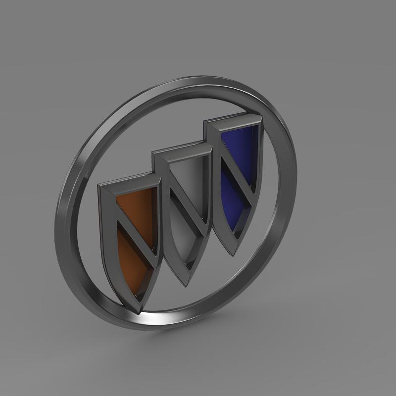 buick new logo 3d model 3ds max fbx c4d lwo ma mb hrc xsi obj 152243