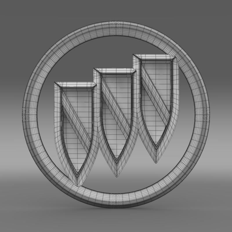 buick new logo 3d model 3ds max fbx c4d lwo ma mb hrc xsi obj 152244