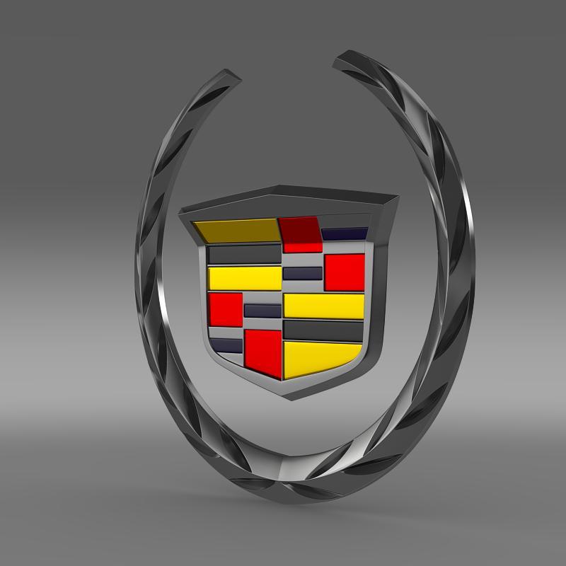 cadillac logo 02 3d model 3ds max fbx c4d ar gyfer yr hrc xsi obj