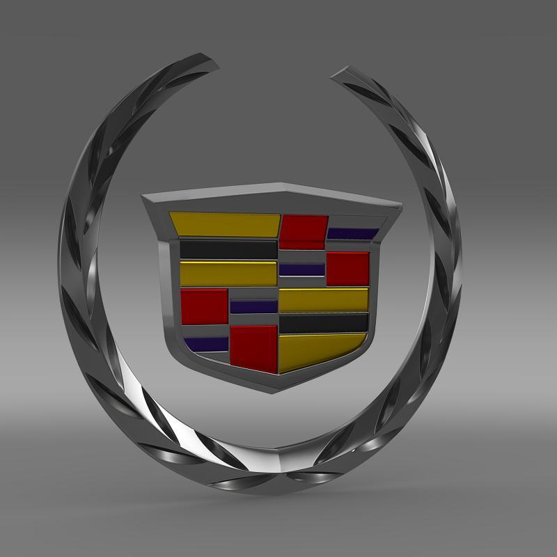 cadillac logo 02 3d model 3ds max fbx c4d lwo ma mb hrc xsi obj 152594