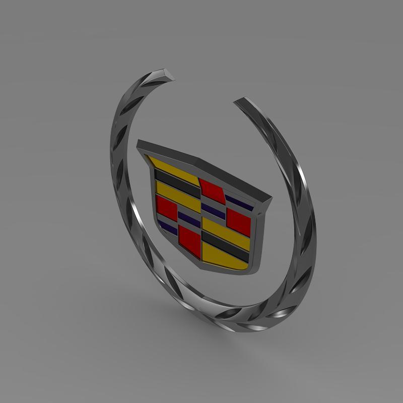 cadillac logo 3d model 3ds max fbx c4d lwo ma mb hrc xsi obj 119055