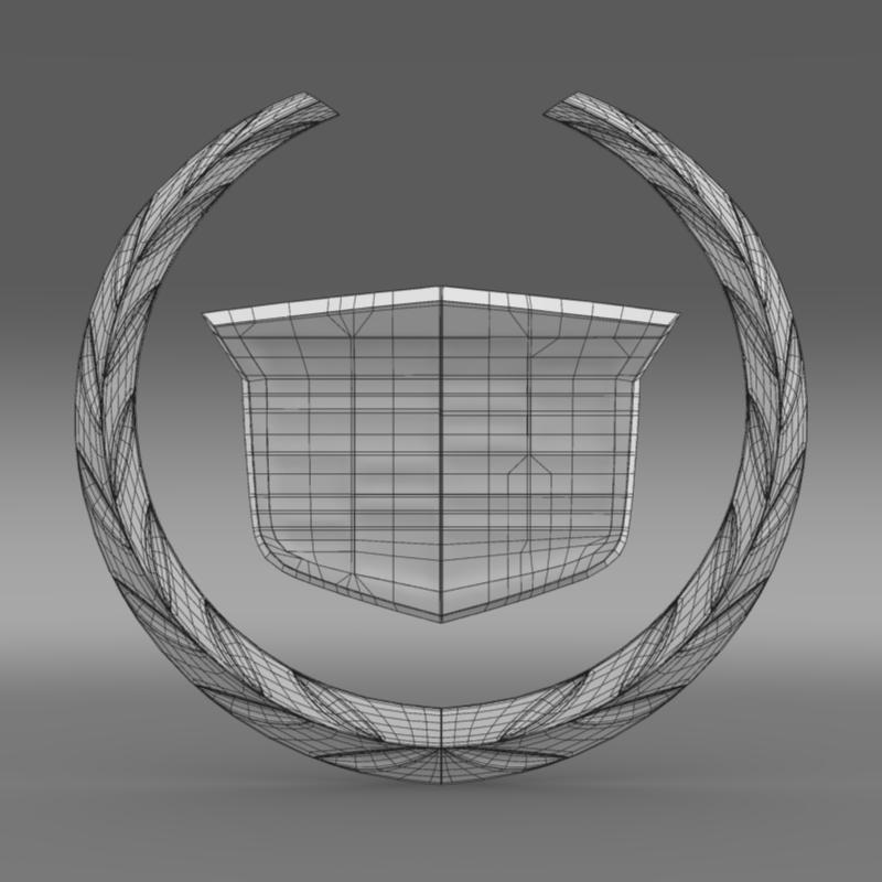 cadillac logo 3d model 3ds max fbx c4d lwo ma mb hrc xsi obj 119058