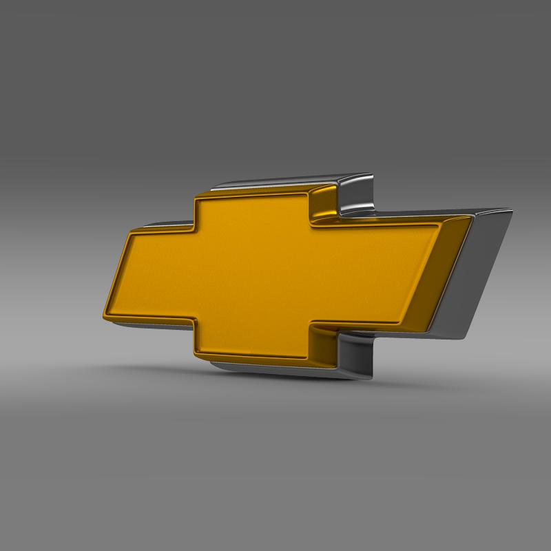 chevrolet logo 3d model 3ds max fbx c4d lwo ma mb hrc xsi obj 117022