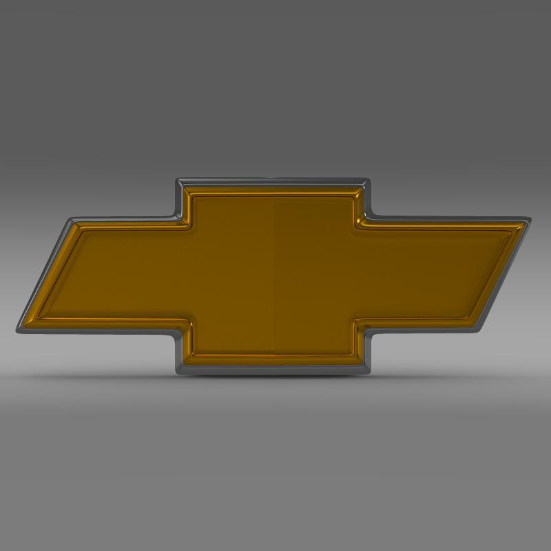 chevrolet logo 3d model 3ds max fbx c4d lwo ma mb hrc xsi obj 117023